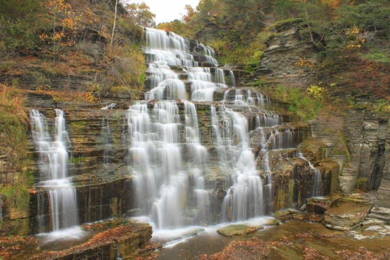 Hector Falls durante upstate il nuovo anno in autunno immagine stock libera da diritti