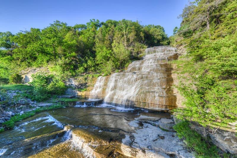 Hector Falls, laghi finger, NY fotografia stock libera da diritti