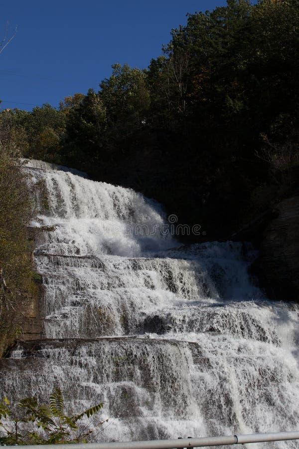 Hector Falls su Seneca Wine Trail fotografia stock libera da diritti