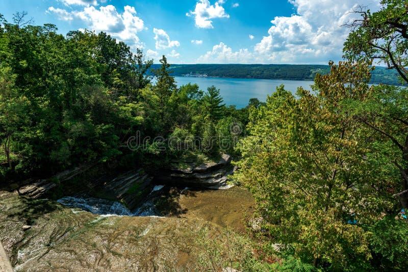 Hector Falls. View on Hector Falls on Seneca Lake; Schuyler County; New York stock photos