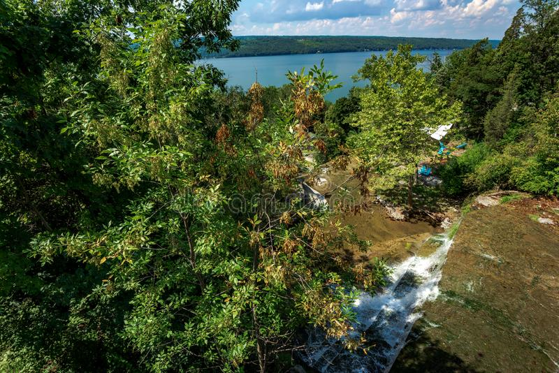 Hector Falls. View on Hector Falls on Seneca Lake; Schuyler County; New York royalty free stock images