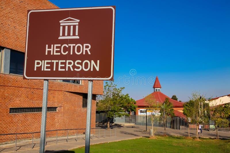 Hector Pieterson Memorial Museum exterior em Soweto Joanesburgo fotos de stock royalty free