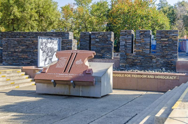 Hector Pieterson Memorial in  in Soweto, South Africa. Johannesburg, South Africa - May 23, 2019: Hector Pieterson Memorial  in Soweto with a famous picture of royalty free stock images