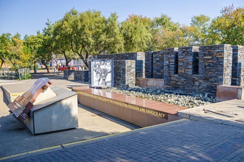 Hector Pieterson pomnik wewnątrz w Soweto, Południowa Afryka fotografia royalty free