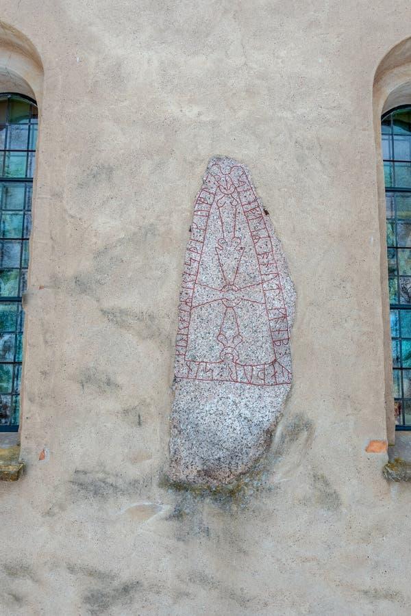 Heda kościół runestones zdjęcia royalty free