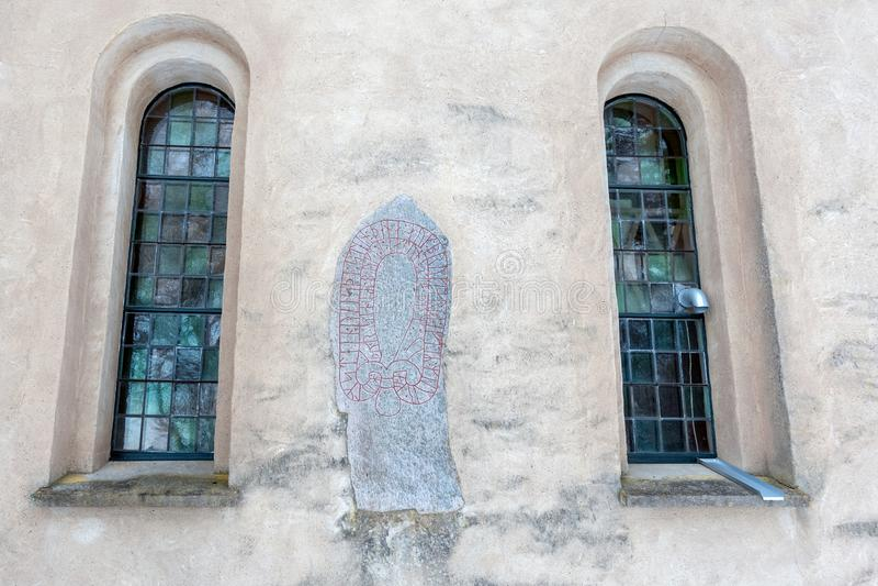 Heda kościół runestones obraz stock