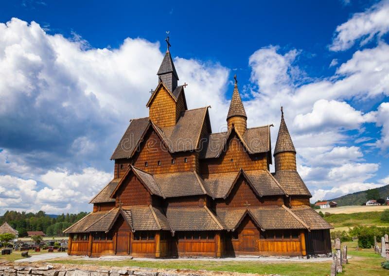 Heddal梯级教会泰勒马克郡挪威Scandanavia 库存图片