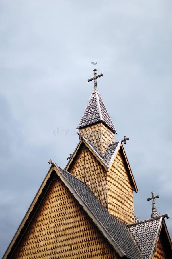 Heddal klepki kościół, Norway zdjęcie royalty free
