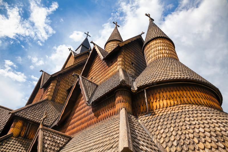 Heddal Stave Church facade Telemark Norway Scandinavia royalty free stock images