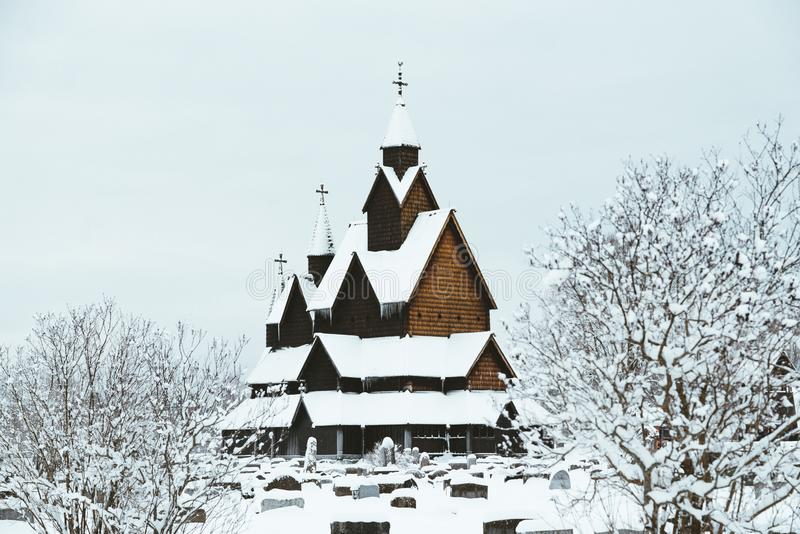 The Heddal Stave Church stock image