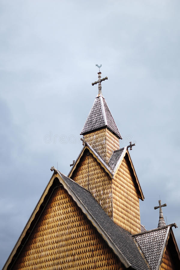 Heddal stave church, Norway royalty free stock photo