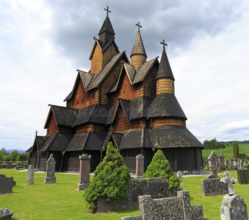 Heddal Stave Church, Norway royalty free stock image