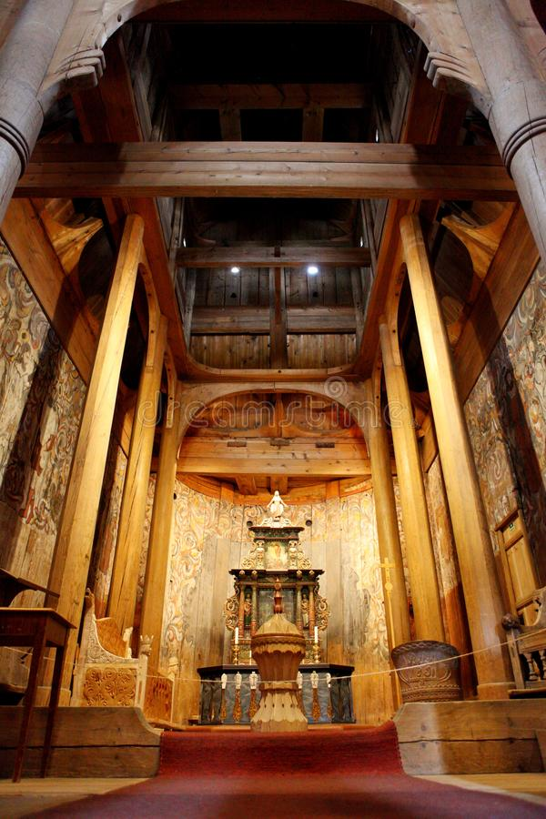 Heddal Stave Church, Norways largest stave church, Notodden municipality, the best preserved of wooden churches. stock image