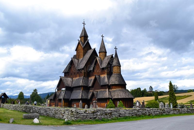 Heddal stavechurch. This Big stavechurch is in Telemark county in Norway and one of the biggest stavechurches in Norway. Alot of tourists Visit every year. A stock images