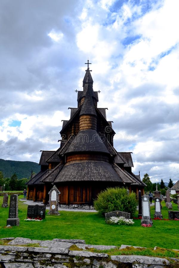 Heddal stavechurch. This Big stavechurch is in Telemark county in Norway and one of the biggest stavechurches in Norway. Alot of tourists Visit every year. A royalty free stock photos