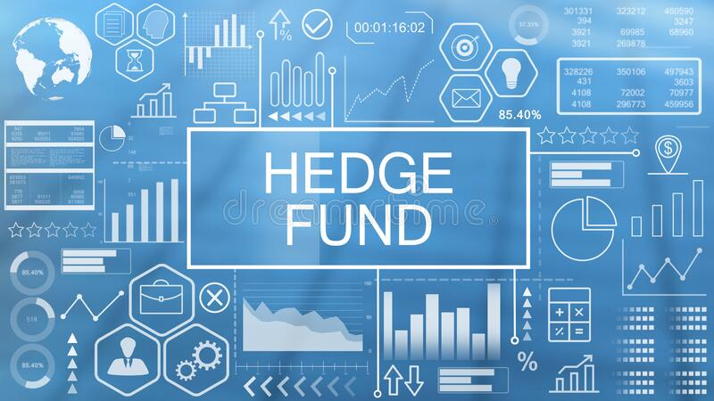 Hedge Fund, Animated Typography. Hedge Fund, The Animated Typography Concept Futuristic vector illustration