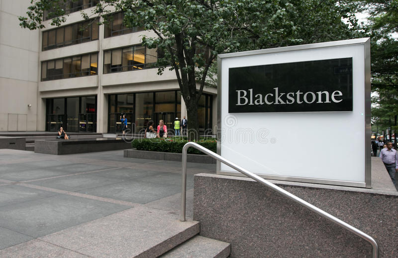 Hedge fund di Blackstone fotografia stock libera da diritti