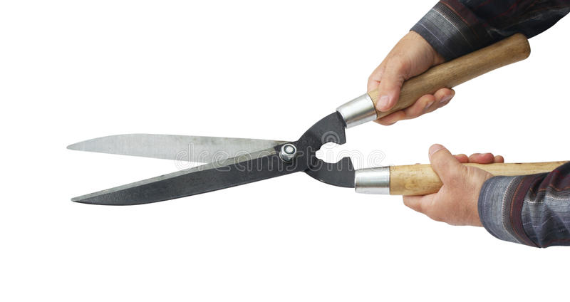 Hedge Shears Royalty Free Stock Photography