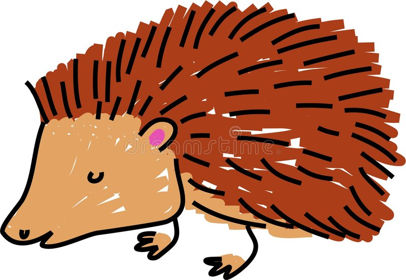 Hedgehog royalty free illustration