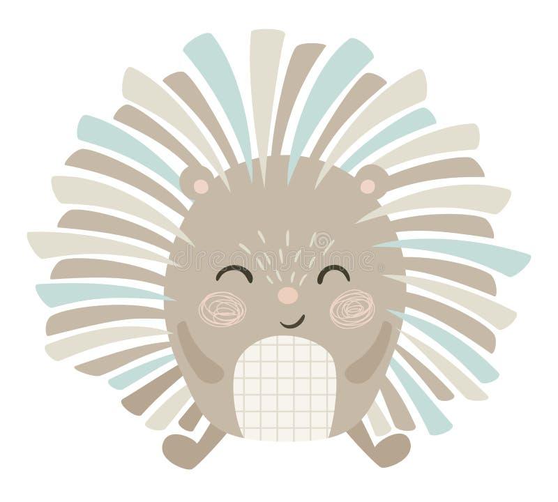 Hedgehog baby print royalty free illustration