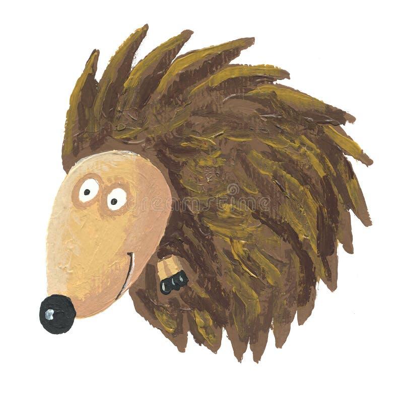 Download Hedgehog curled up stock illustration. Image of rodent - 19656457