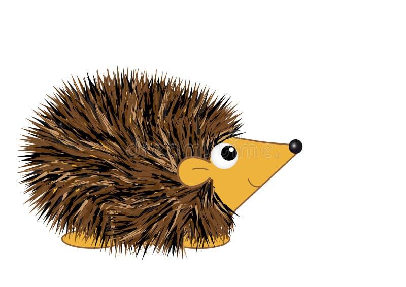 Hedgehog dos desenhos animados ilustração do vetor