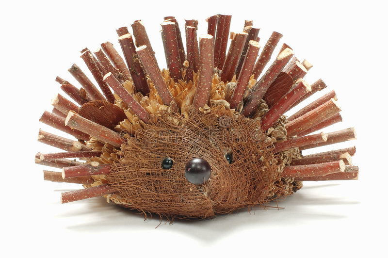 Download Hedgehog made from branch stock image. Image of bush, christmas - 1579441
