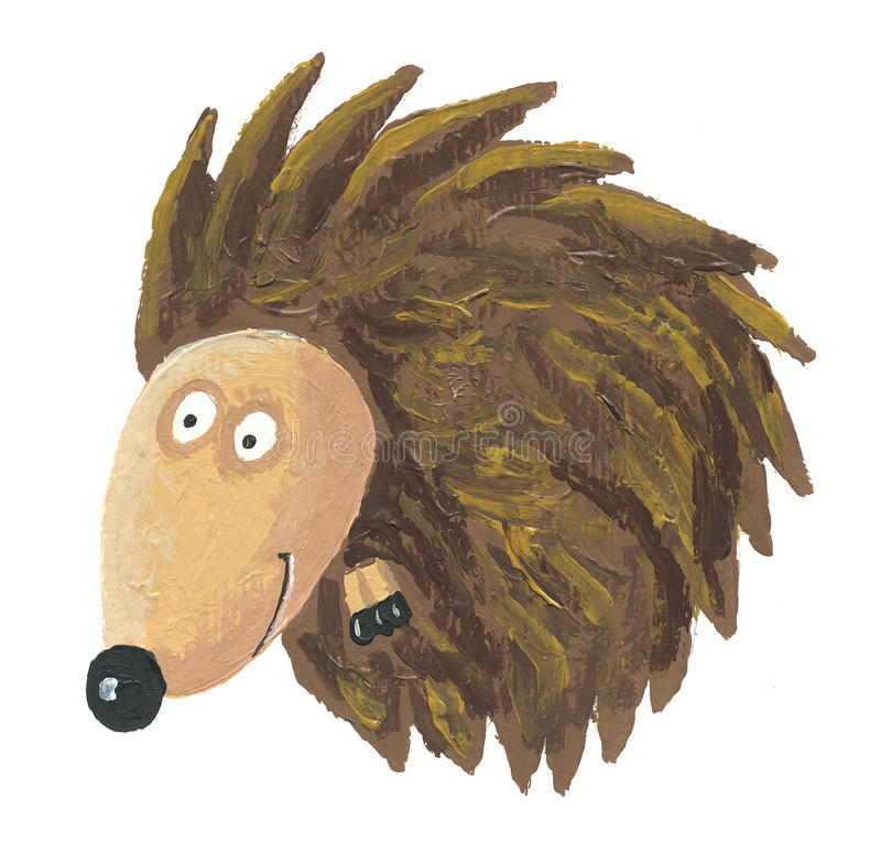 Hedgehog ondulado acima