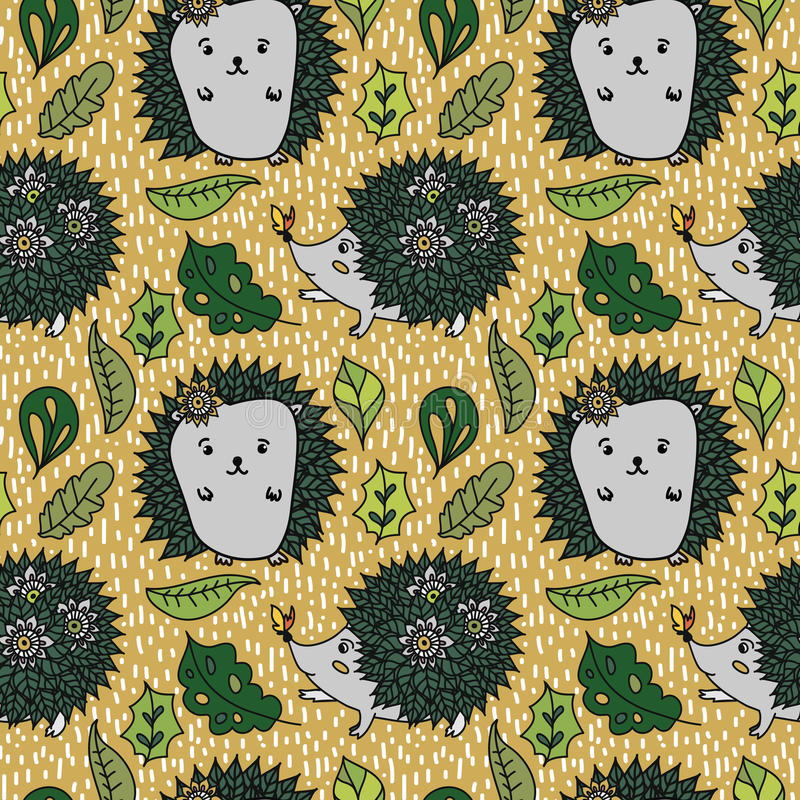 Hedgehog pattern stock photography