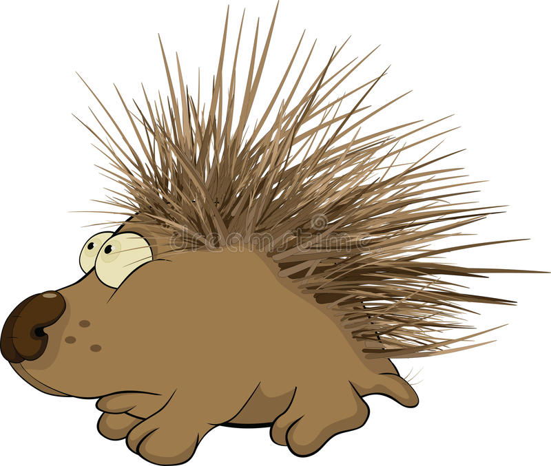 Hedgehog pequeno. Desenhos animados