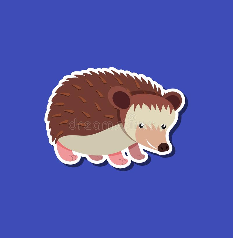 A hedgehog sticker character royalty free illustration