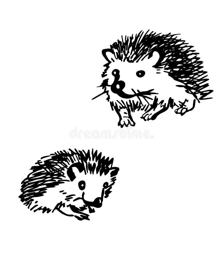 Hedgehog. Stylized drawings royalty free stock photo