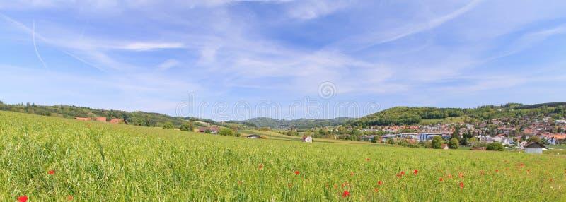Hedingen, Ελβετία την άνοιξη στοκ εικόνες