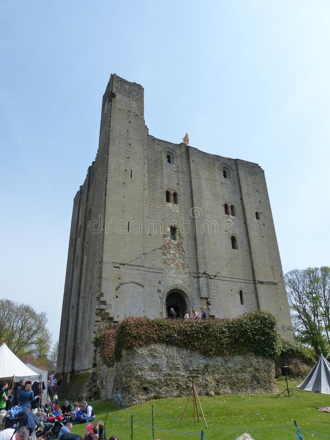 Hedingham Castle royalty free stock photos