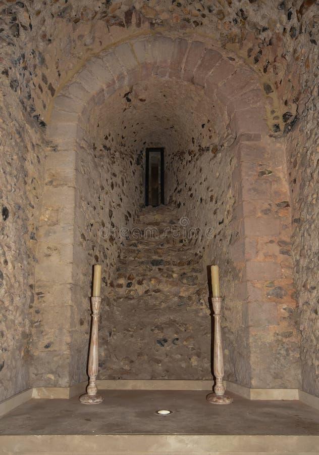 Hedingham slott royaltyfria foton