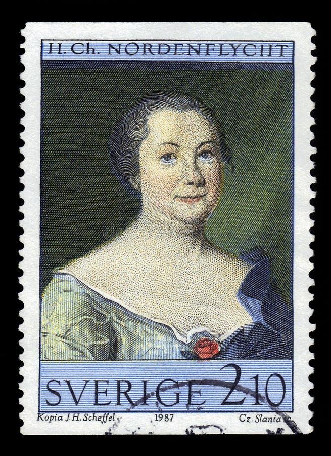 Hedvig Charlotta Nordenflycht, poeta sueco, feminista fotografía de archivo libre de regalías