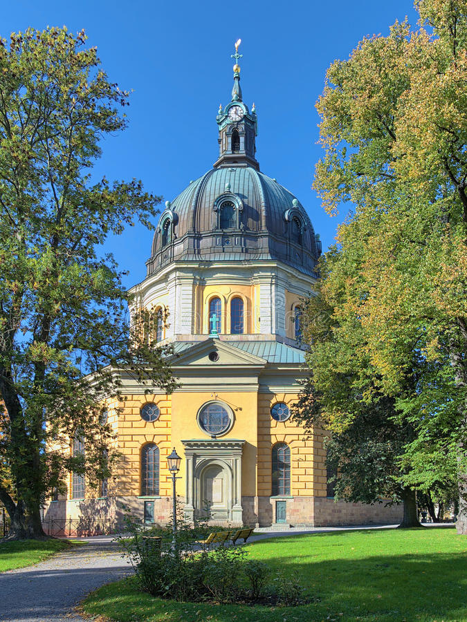 Hedvig Eleonora Church in Stockholm stock afbeelding