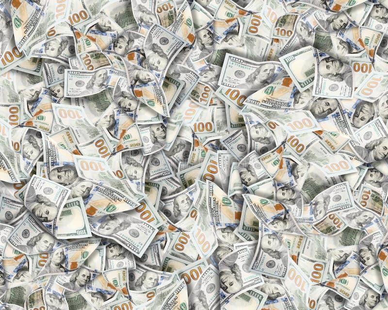 Heel wat dollars Hoogst gedetailleerd beeld van het Amerikaanse geld van de V.S. stock foto's