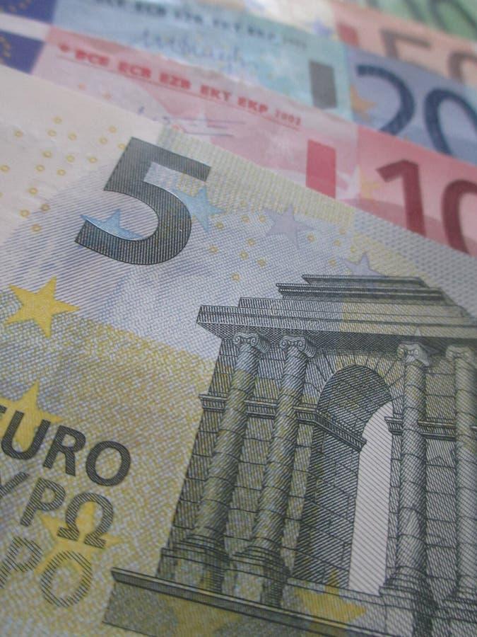 Heel wat Europees Geld royalty-vrije stock foto