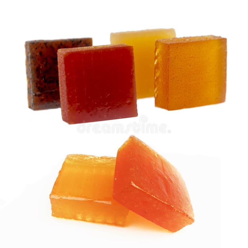 Heel wat exotische oranje organische veganistsuikergoed status royalty-vrije stock foto's