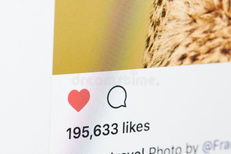 Heel wat houdt van in instagrampost royalty-vrije stock foto