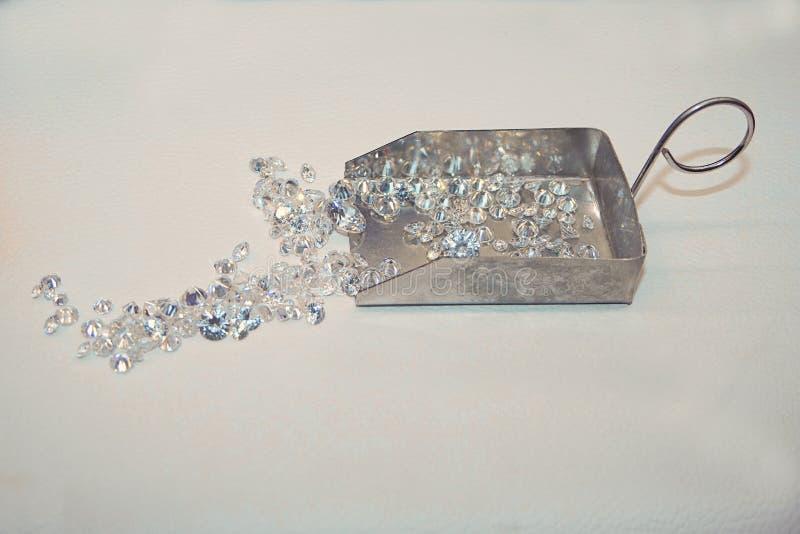 Heel wat kleine diamanten royalty-vrije stock afbeeldingen