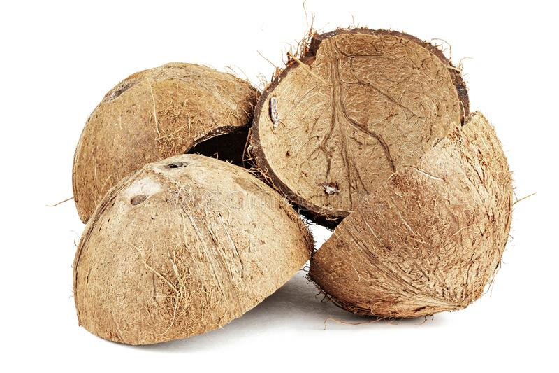 Heel wat kokosnotenshell royalty-vrije stock foto