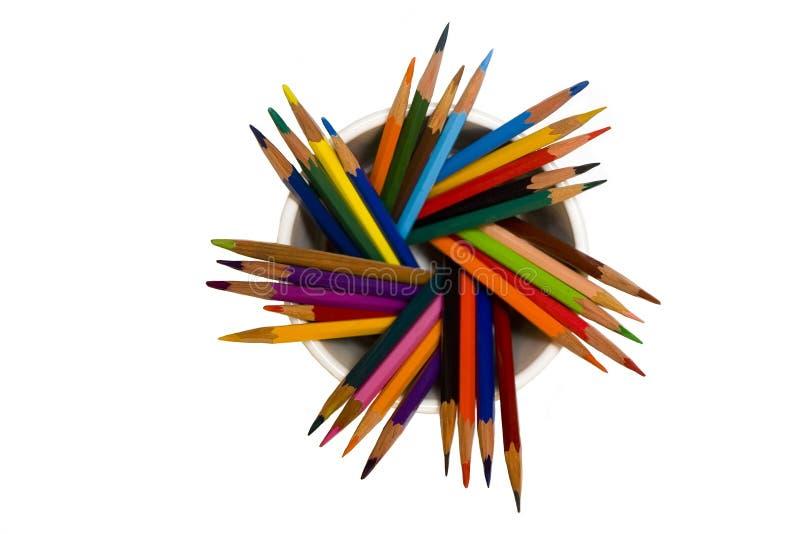 Heel wat potloden royalty-vrije stock foto's
