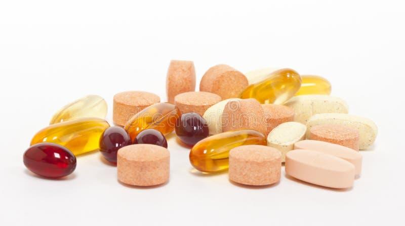 Heel wat supplementen stock foto