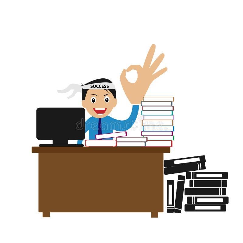 Heel wat te doen werk Hoge hartstocht om succesvolle carrièreweg te bereiken stock illustratie