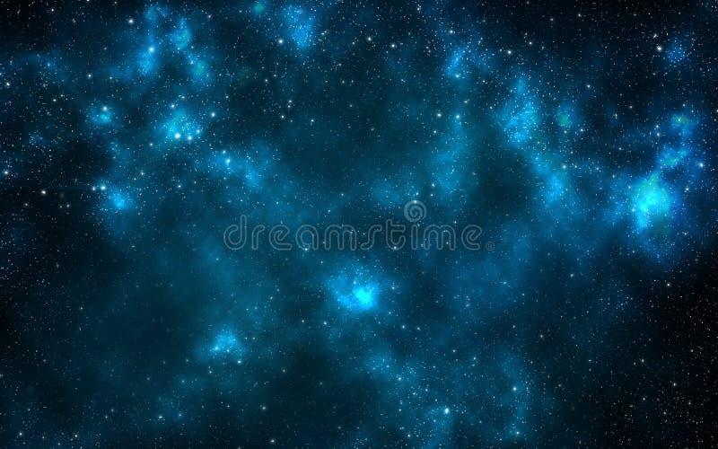Heelal dat met sterren wordt gevuld royalty-vrije illustratie