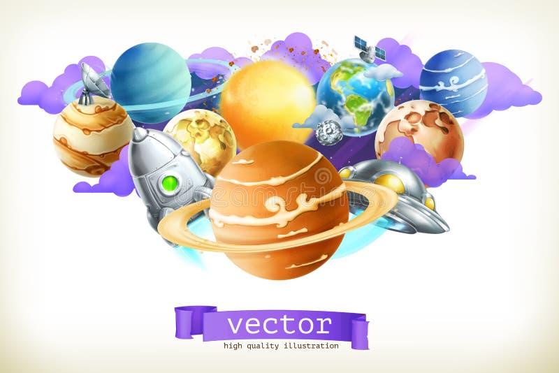 Heelal vectorillustratie royalty-vrije illustratie