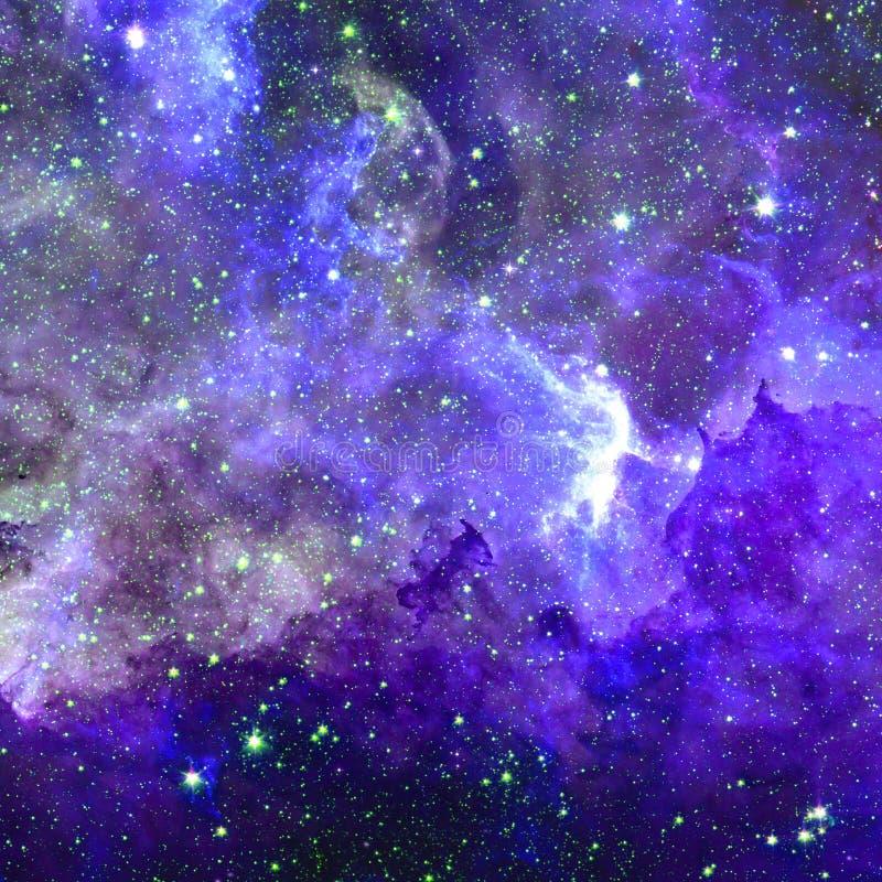 Heelalsc?ne met planeten, sterren en melkwegen in kosmische ruimte royalty-vrije illustratie