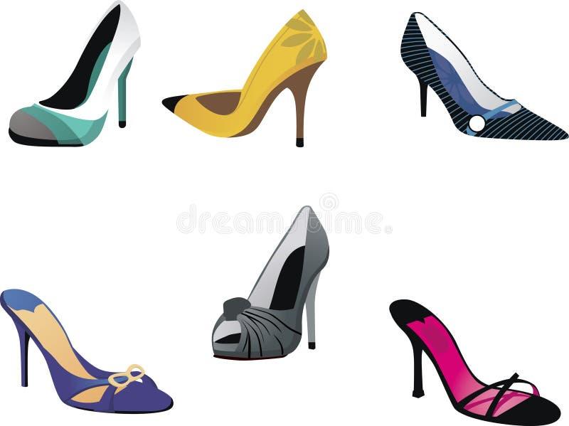 Heels, Pumps & Stilettos stock illustration